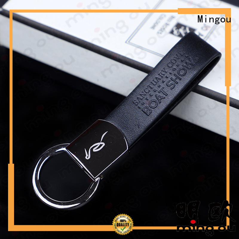 magnificent personalized leather keychain factory price for meeting