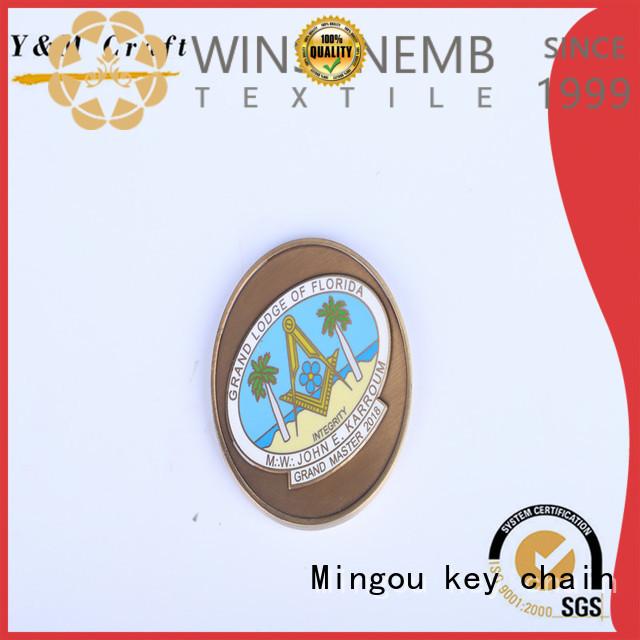 Mingou Brand embossed custom coins oil supplier
