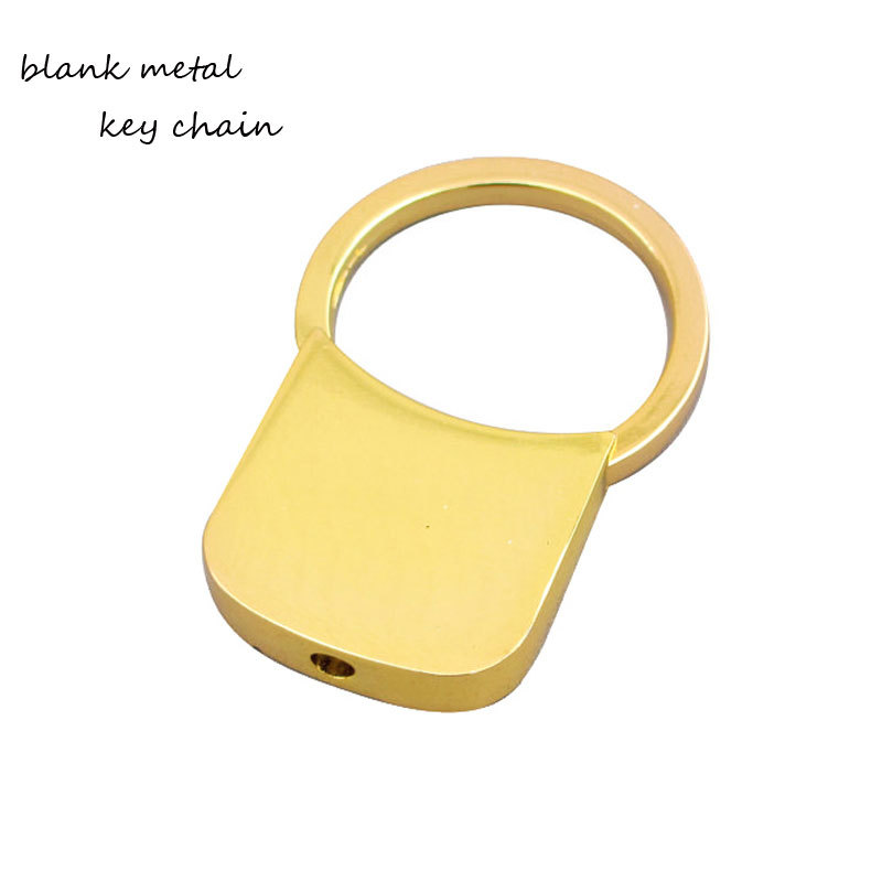 Gold Plating Zinc Alloy Pull Key Ring