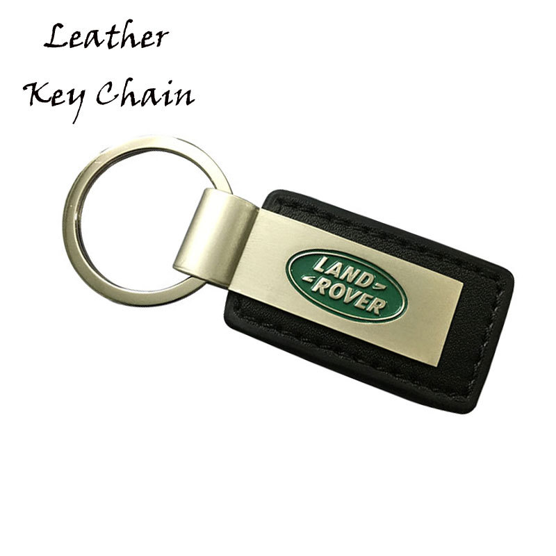 Car Logo Design PU Leather Key Chains With Metal
