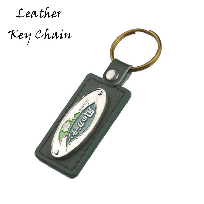 Customized Zinc Alloy And Genuine Leather Key Tag