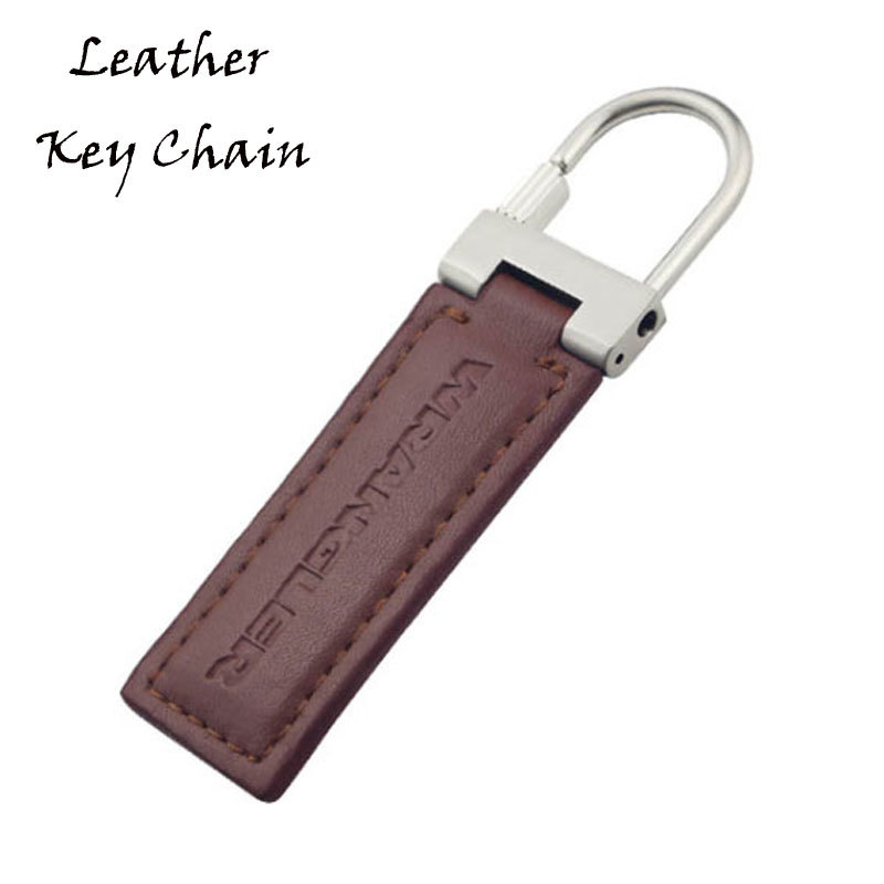Hot Press Logo Brown Color Leather Key Chains Custom