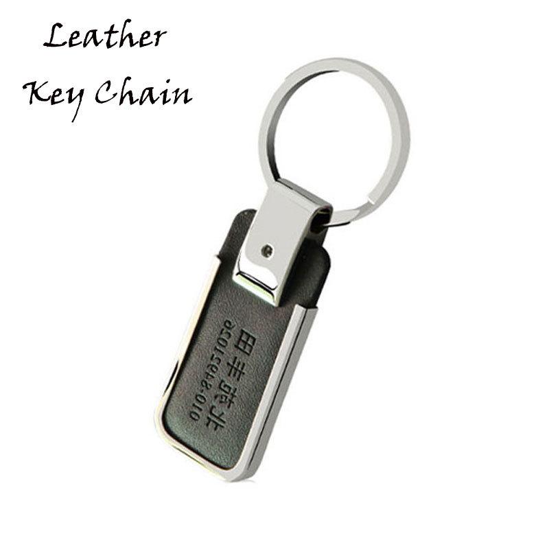 Custom Luxury Leather Key Ring Hot Press Logo