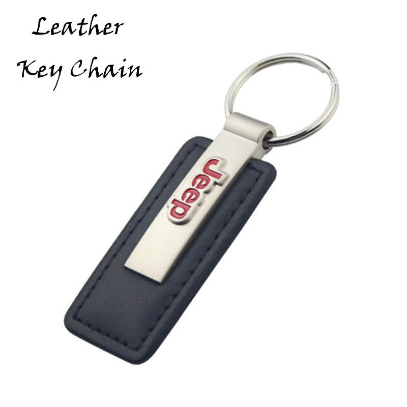 Customized Car Logo PU Leather Key Tag