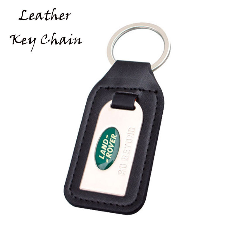 Personalized Epoxy Car Logo Metal And Leather Keyrings Wholesale