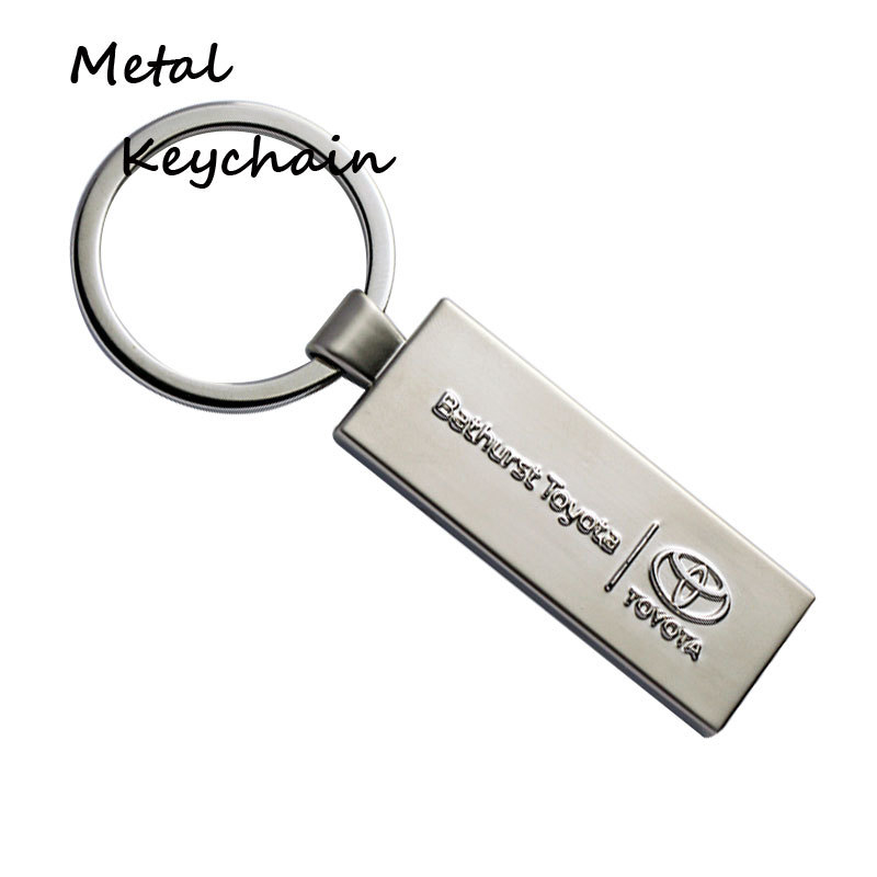 Rectangle Design Name Keychains For Car Keys