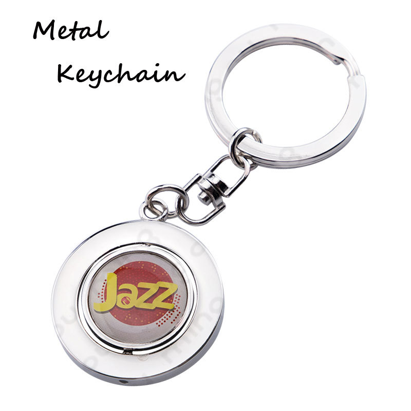 Hot Sale Cute Small Gift Hollow Spinning Epoxy Sticker Metal Key Chains