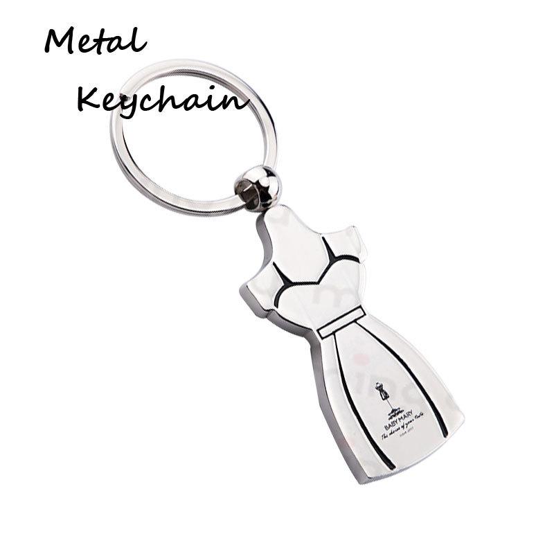 Custom model fashion dress logo Metal Keychains Y0001