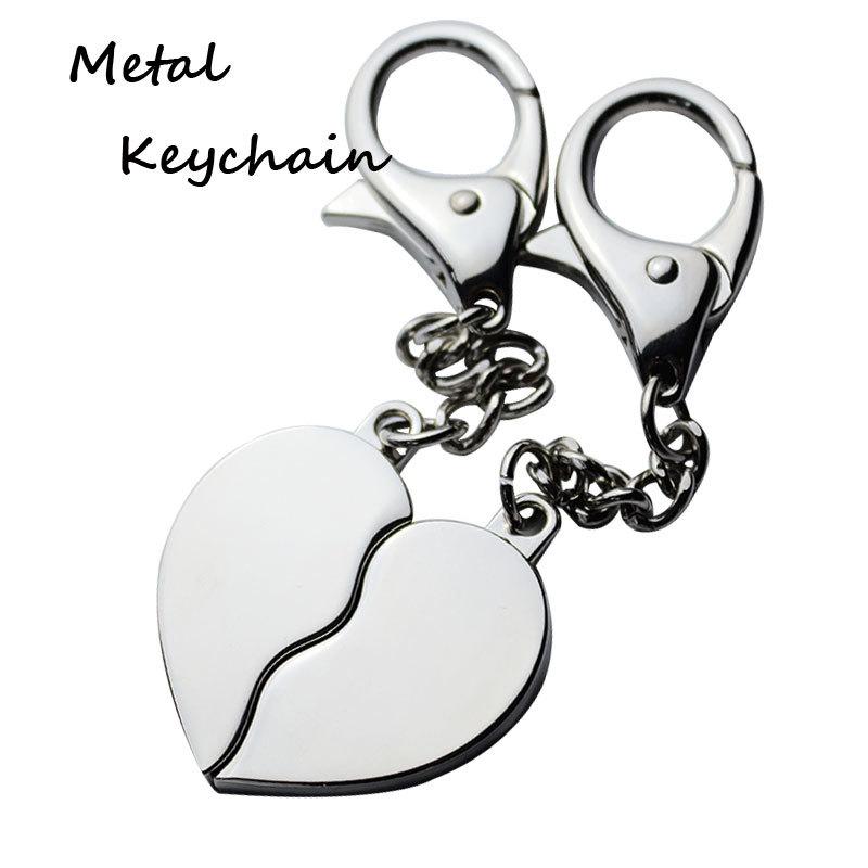 Zinc Alloy Heart Couple Keyrings for Lovers