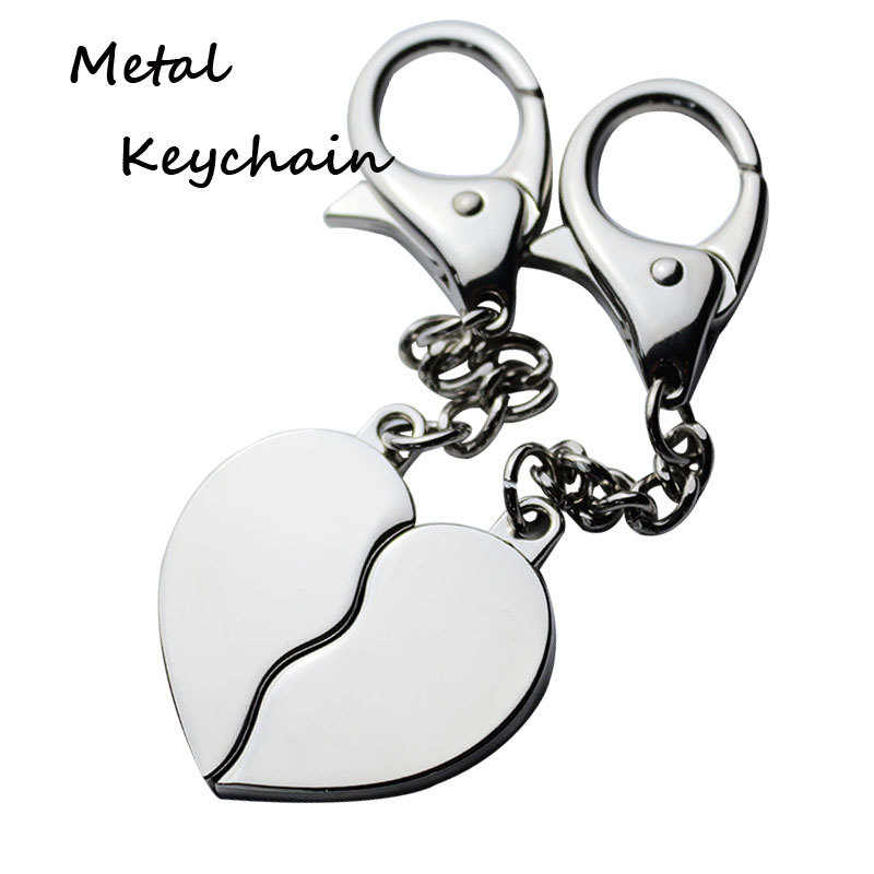 Zinc Alloy Heart Couple Keyrings for Lovers