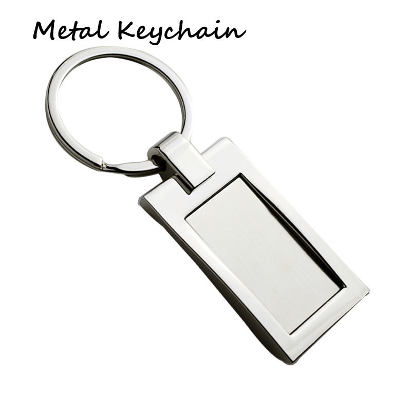 hotsell custom metal keychain with flat ring