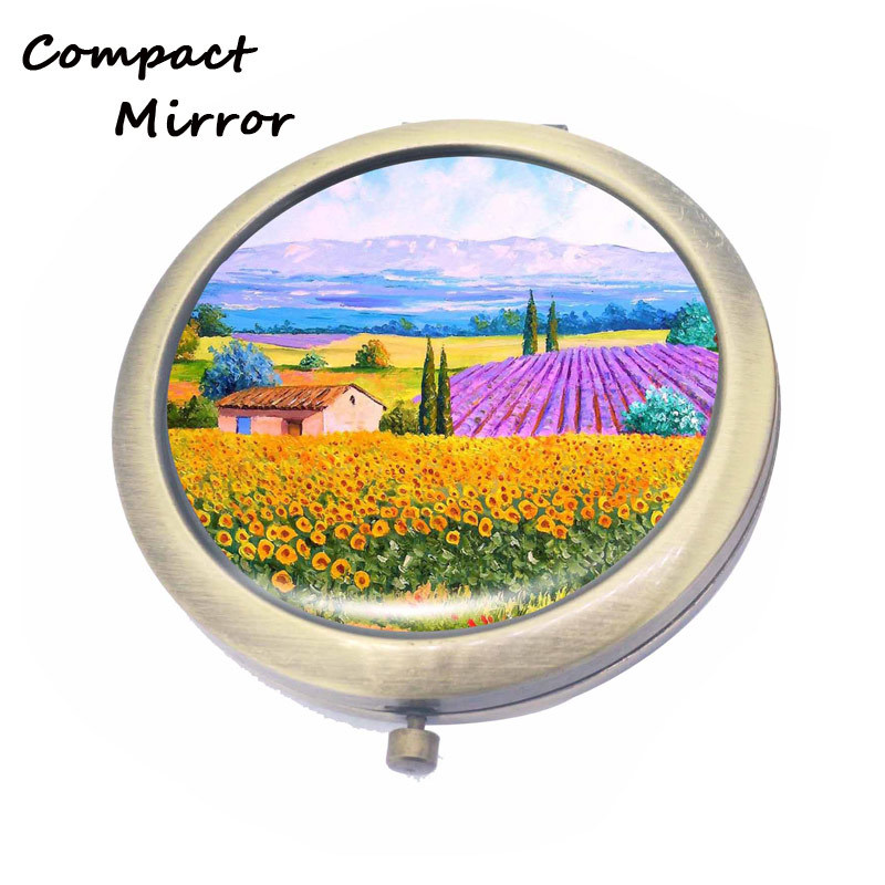 Gold / Antique Color Round Cosmetic Mirrors wholesale
