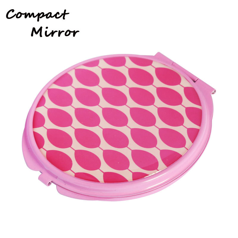 Metal Material Round Shape Small Compact Mirrors