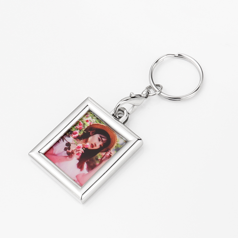 Zinc Alloy Rectangle Blank Key Chain For Thermal Print YSK19002