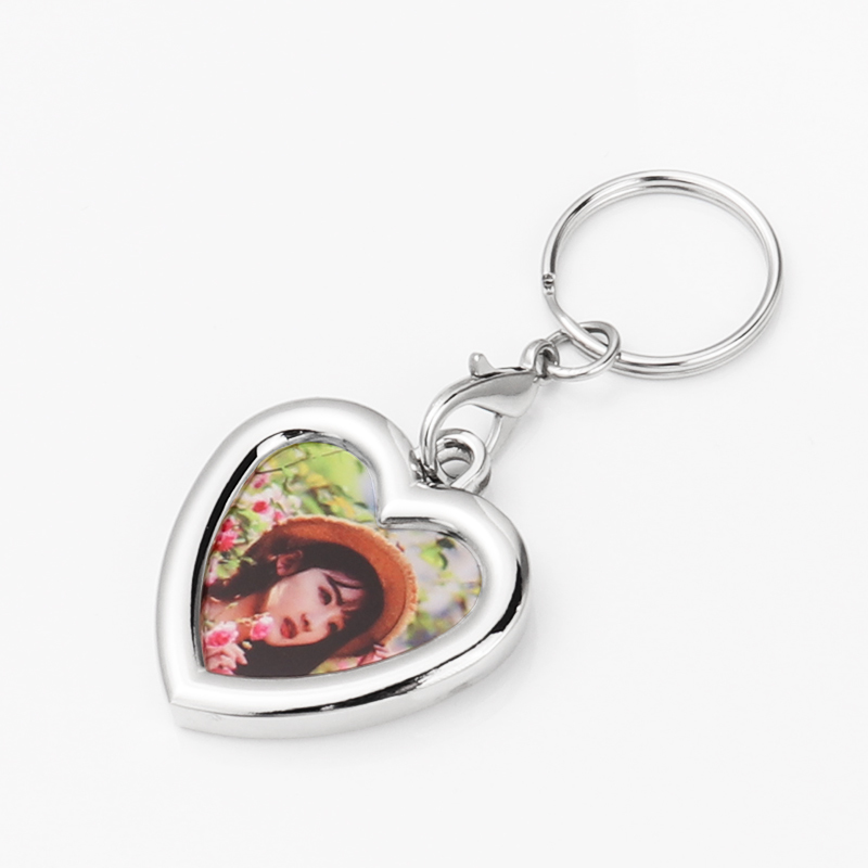 Zinc Alloy Love Heart Photo Frame Keyrings YSK19004