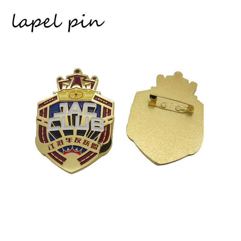 Personalized Gold Color Soft Enamel Lapel Pin Badges