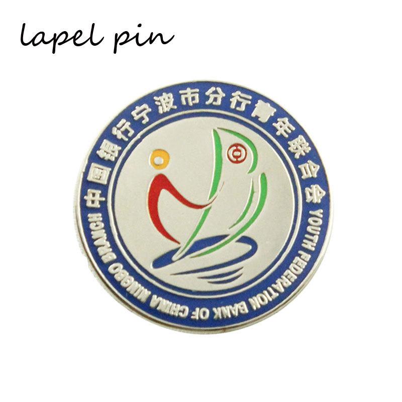 High Quantity Round Iron Small Lapel Pins Custom