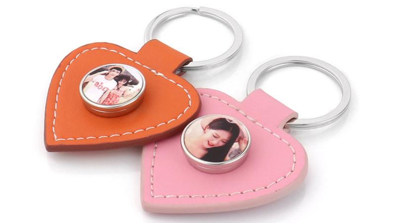 Custom Sublimation Leather Keychain Wholesale
