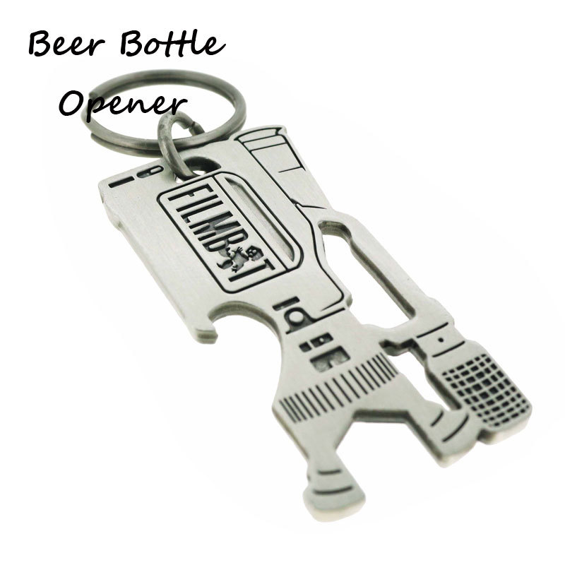 Customized Camera Design Antique Silver Beer Opener Keyring