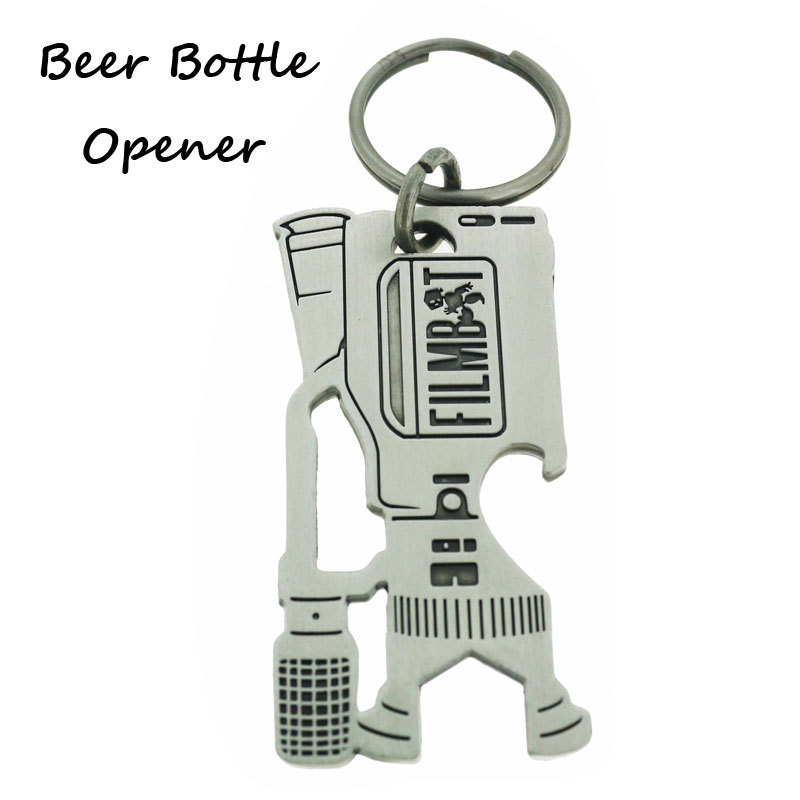 Customized Camera Design Antique Silver Beer Opener Keyring