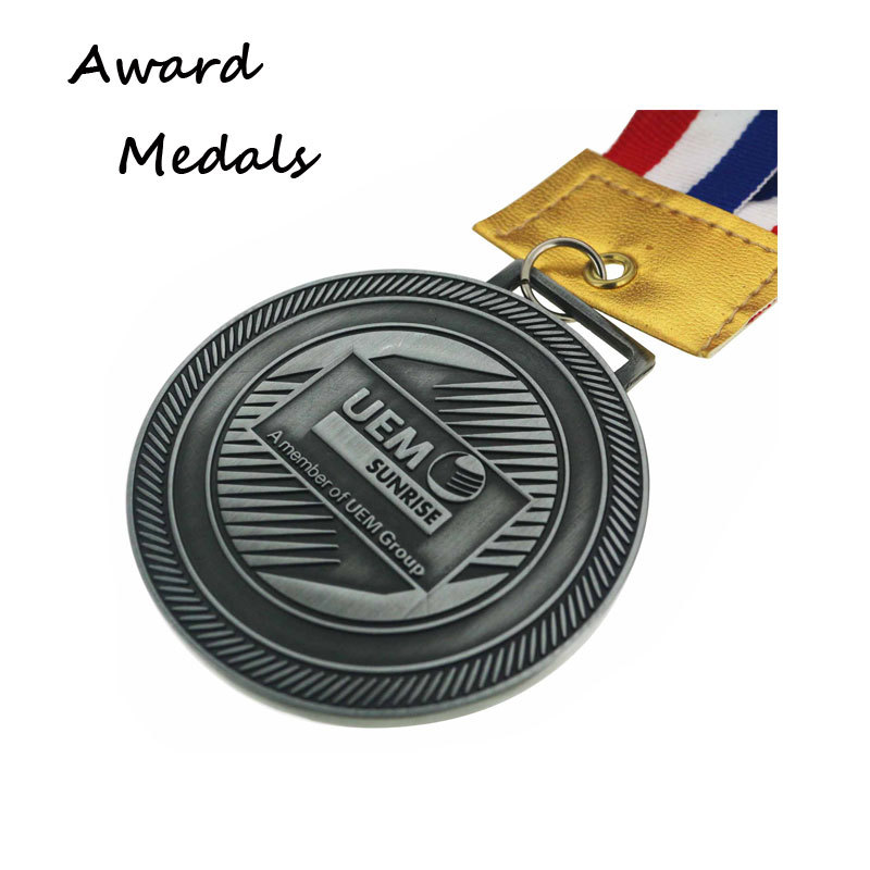 3D Antique Silver Zinc Alloy Medals Wholesale