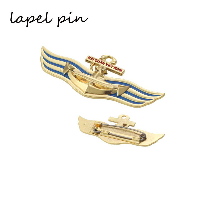 Personality Made 3D Gold Badge Wholesale