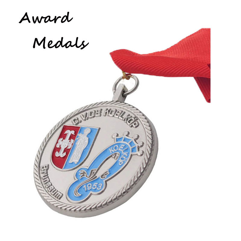 Zinc alloy Customised Antique Silver Medals