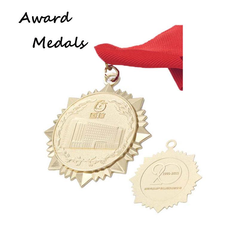 3D Embossed Gold Metal Medallion Custom