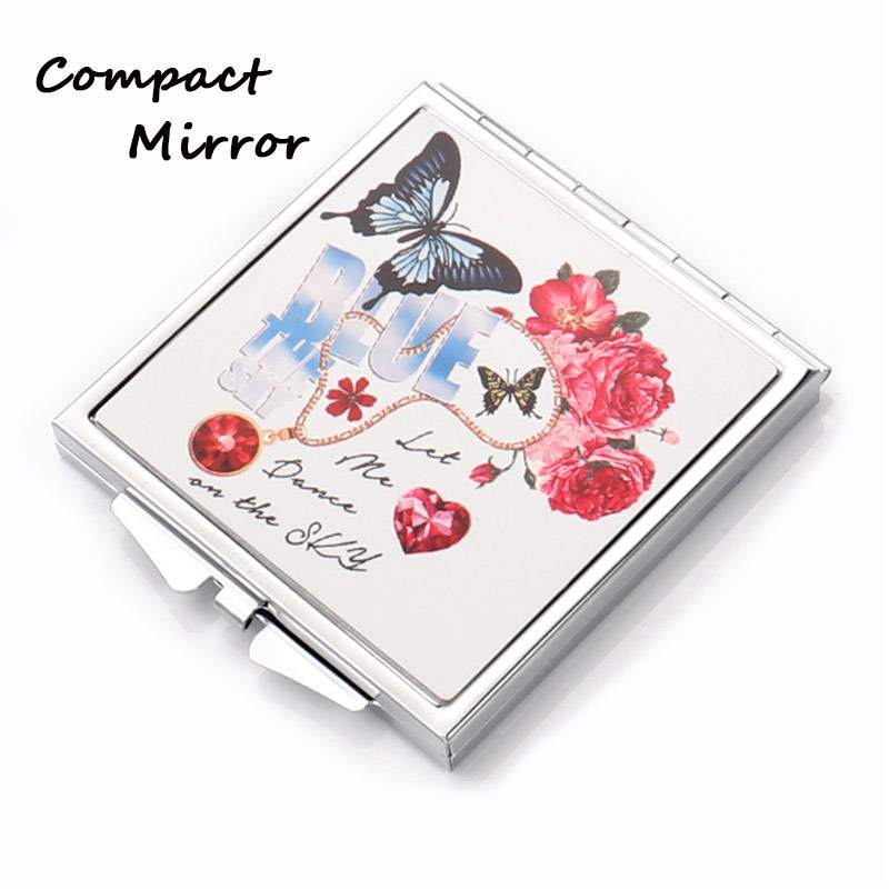 Square Shape Cosmetic Iron Sublimation Mirror