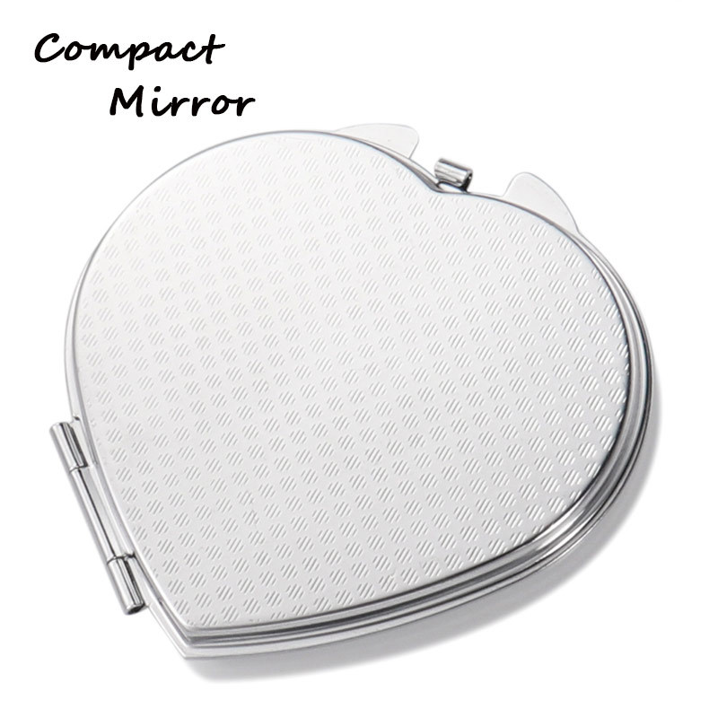 Iron Material Small Heart Mirrors For Sublimation