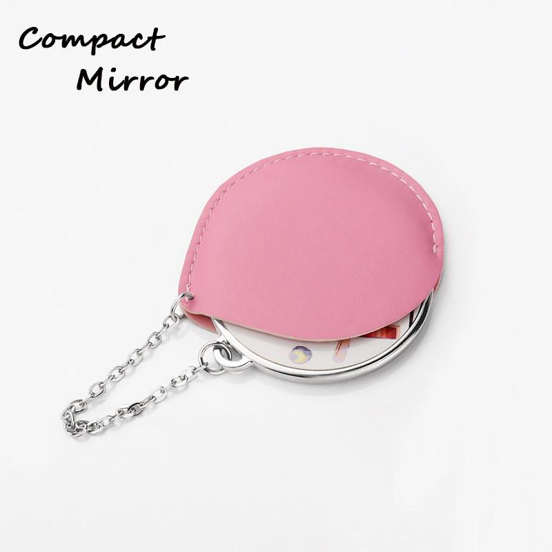Custom Silver Round Shape Handbag Mirrors