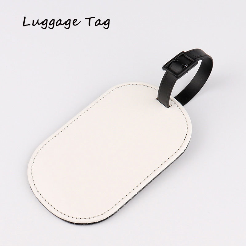 Sublimation Blank Leather Luggage Tag