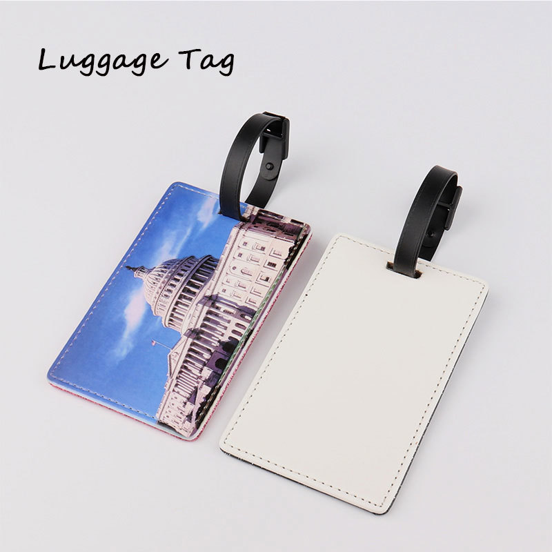 Dye Sublimation Printed Leather Baggage Tag
