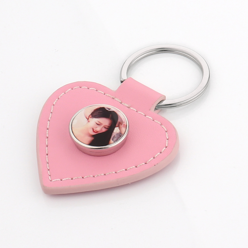 Heart Leather Keychain For Sublimation YSK19026