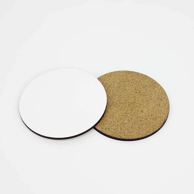 High Density Wood Board Round Sublimation Coasters MDF19004