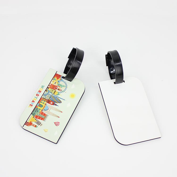 Heat Transfer Print Baggage Tag Blank MDF19034