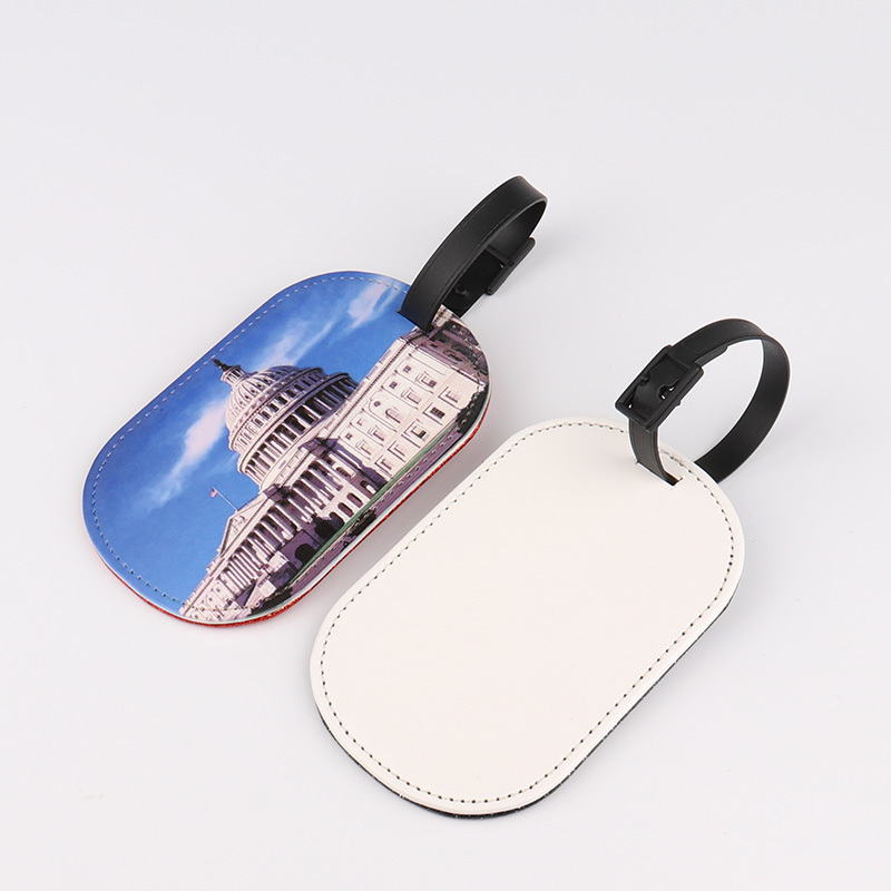 Sublimation Blank Leather Luggage Tag PL19003