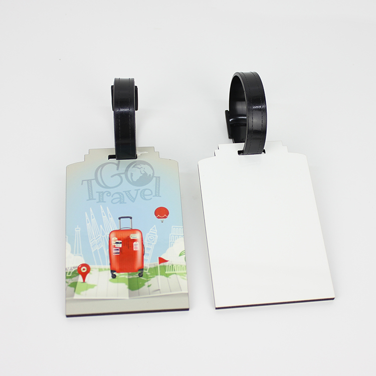 Wood Material Dye Sublimation Luggage Tag MDF19030