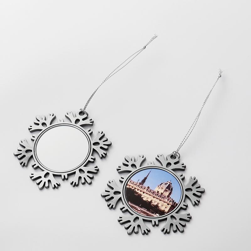 Sublimation Blanks Metal snowflake Ornaments QT19035