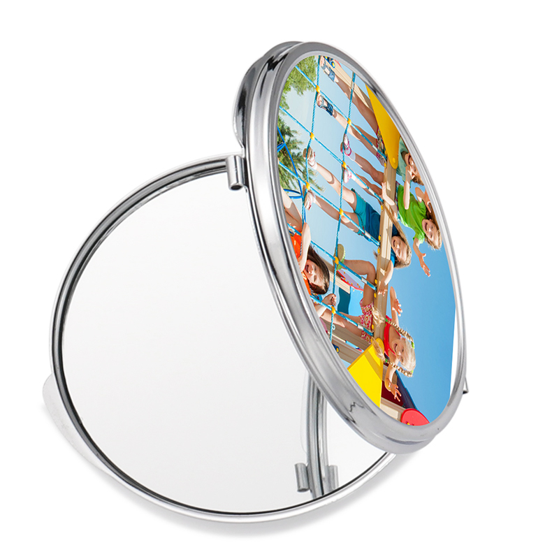 Round Shape Sublimation Blank Cosmetic Mirror HZJ19008