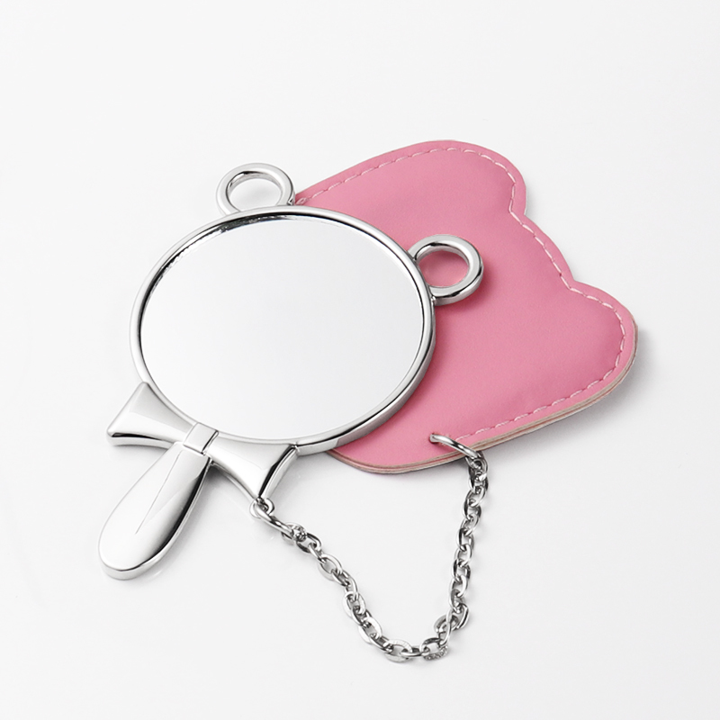 Car Design Cute Cosmetic Mirror With Small Bag HZJ19001