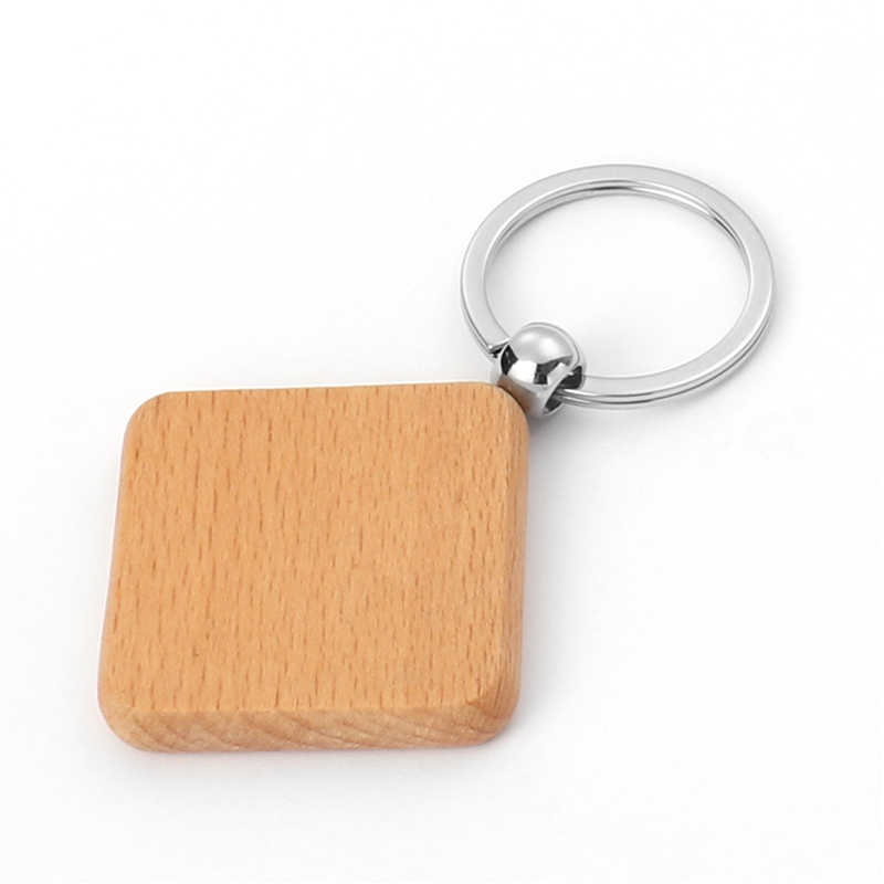 Blank Wood Keyring For Laser Engraved Logo LS20021