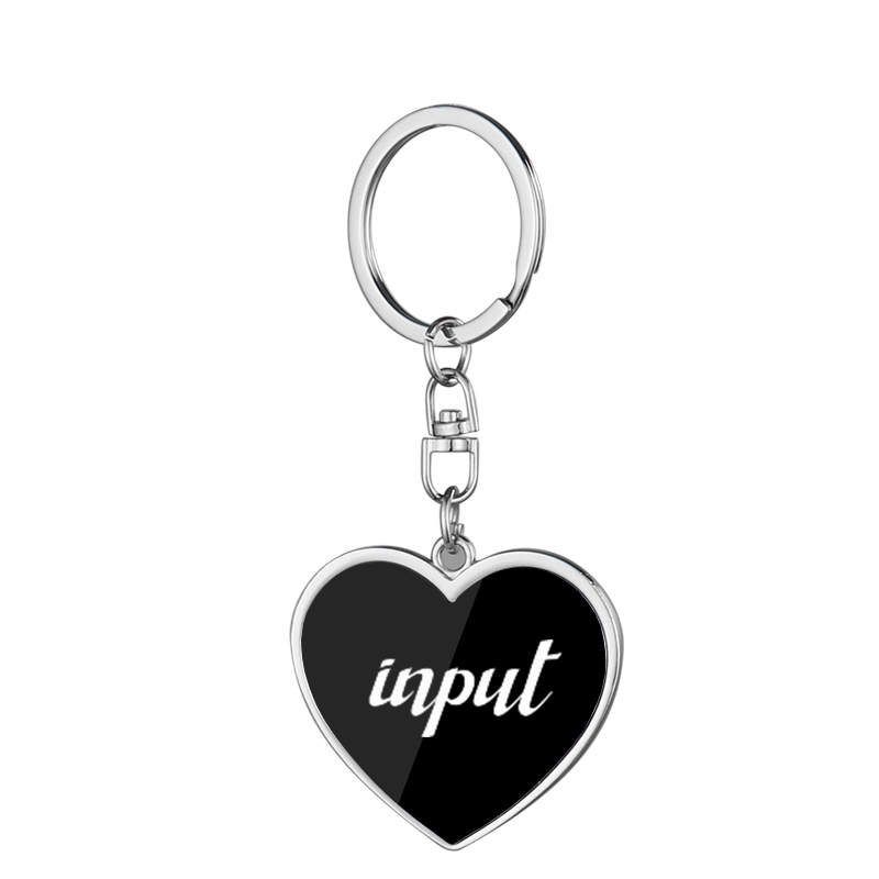 Two-Sided Black Metal Key Ring For Laser LS20002
