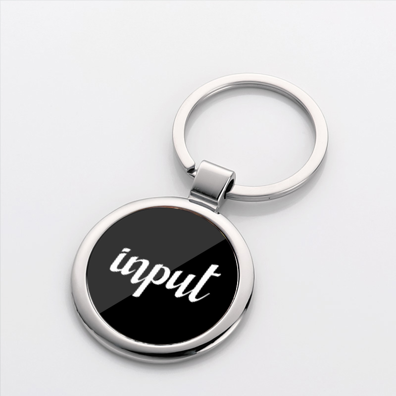 Promotion Round Metal Keyring for Custom Logo LS20011