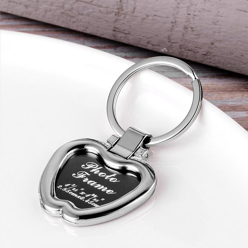 Metal Photo Frame Keychains for Laser Engraved LS20015