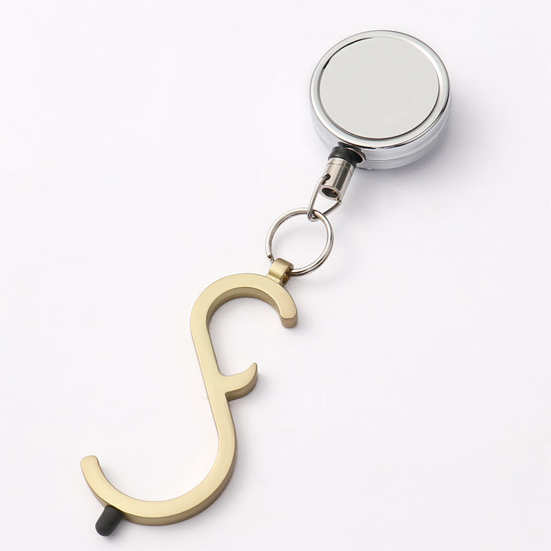 Blank Non-touch Keyring With Badge Reel Wholesale