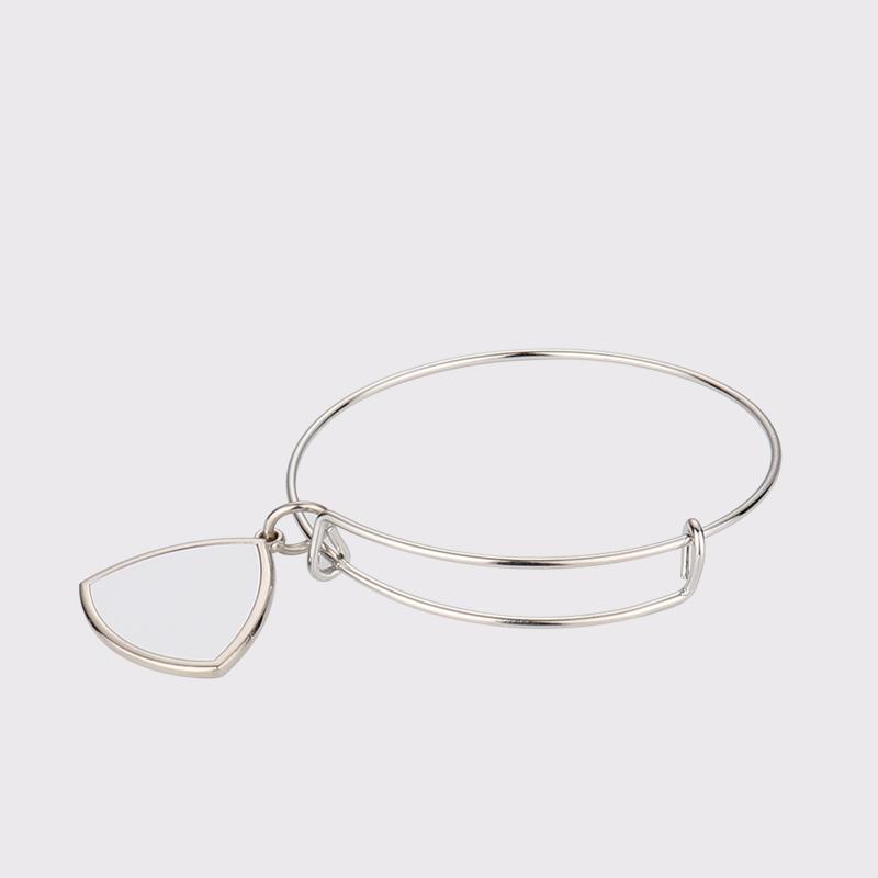 Sublimation Blank Silver Bracelet Pendant Custom SX19016