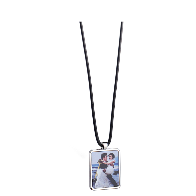Silver Charm Heat Transfer Print Necklace SX19003