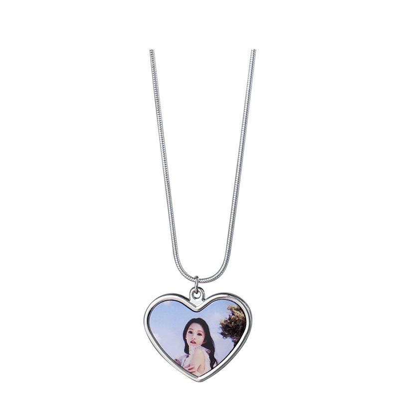 Heart Charm Sublimation Printed Necklace Wholesale SX19005