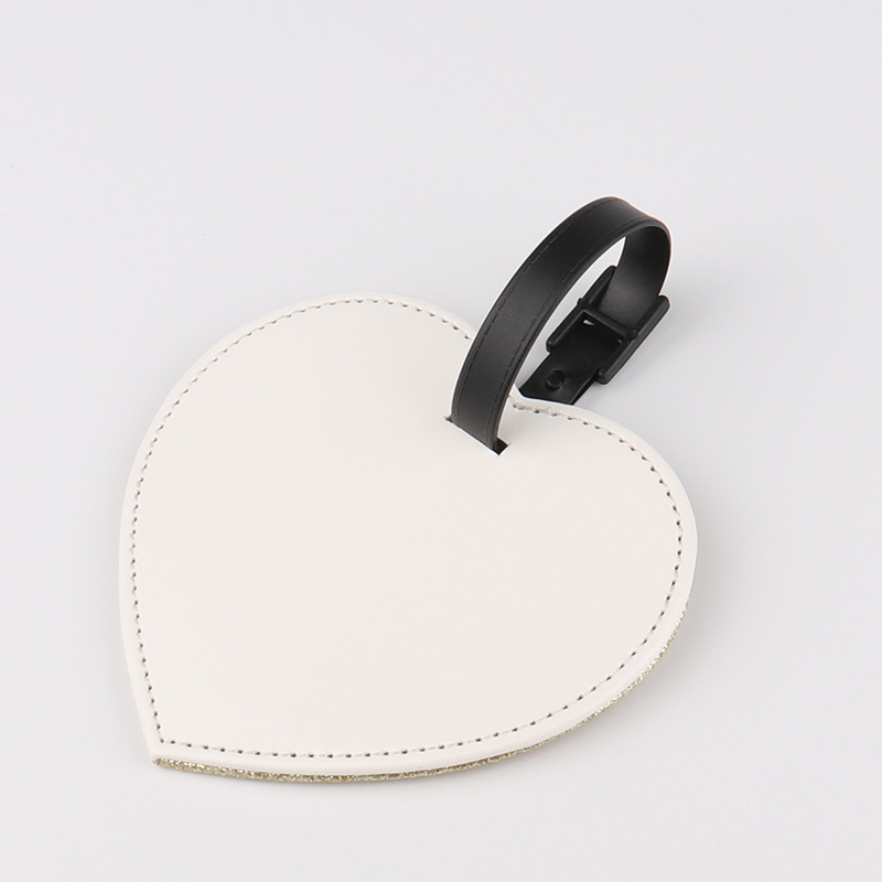 PU Leather Heart Luggage Tag for Sublimation PL19002